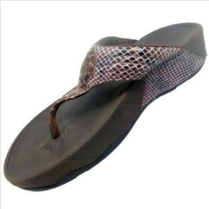 0142283e2ec6 Fitflop Shoes - FitFlop Walkstar 3 Snake Print Sandals Sepia Sz 5